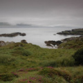 Ring of Beara -- Blick aufs Meer - Landschaft im Nebel