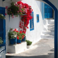 Santorin -- Gasse in Imerovigli