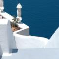 Santorin -- Fira - blau und weiß