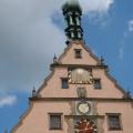 Rothenburg -- Ratstrinkstube mit Uhr