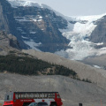 Icefields Parkway -- Athabasca Glacier mit Snowcoach