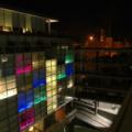 Hotel Radisson -- Beleuchtung bei Nacht